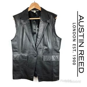 Austin Reed Jackets Coats Like New Austin Reed Lined Leather Vest Sz 6 Poshmark